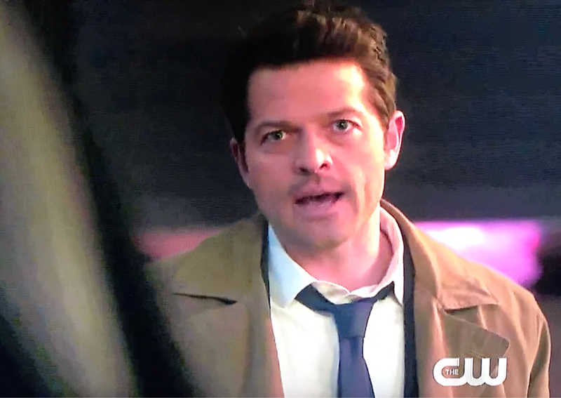 🧔🏼✨⚡️💫🌟😆 Sunny:  I promised Mom that I wouldn't leave you, but you are a monster! Mayor:  No.  No.  I am a God in this town. Sam:  You're not God.  Believe me.  We met him. Castiel:  God has a beard!