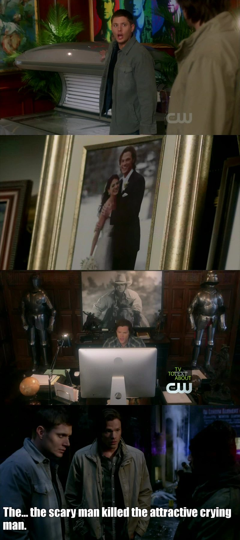Which other tv show decided to use the real world as an alternate universe? just brilliant. and sams house...wtf! :'D