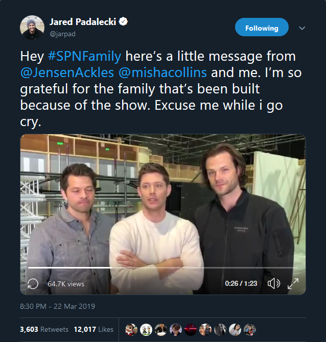 JUST ANNOUNCED: SUPERNATURAL will end next year with its 15th season! 😭😭😭