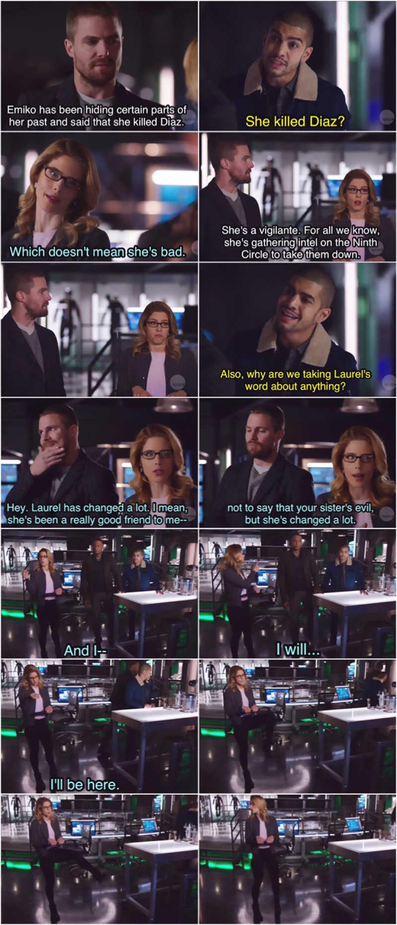 Felicity in this scene 🤣🤣
