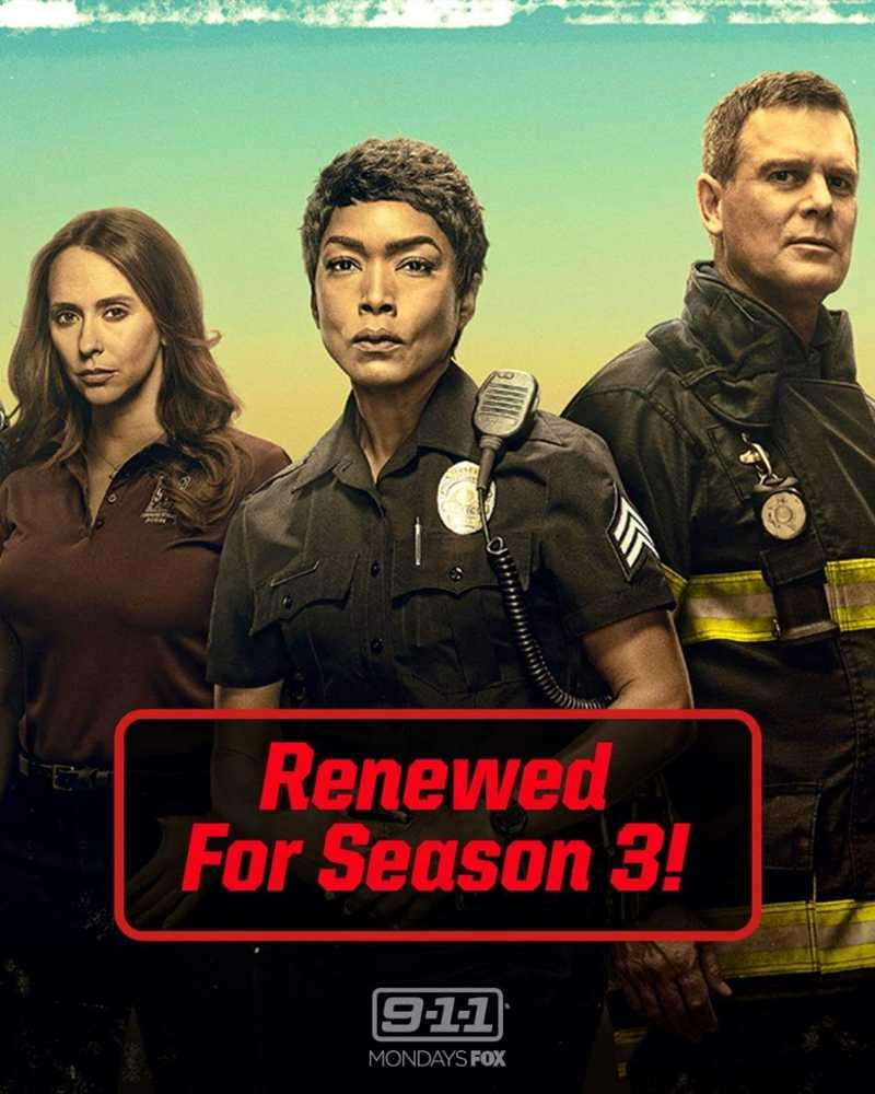 9-1-1 renewed for season 3.  The people of (fictional) Los Angeles can rest a little easier: 9-1-1 has been renewed for a third season.  Oh, and season 1 was just 10 episodes, but the network boosted the season 2 count up to 18 so i wouldn't expect season 3 to go beyond 18.