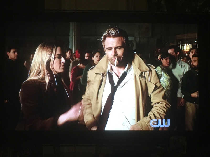 I loved how Sara just flicked the cigarette out of Constantine's mouth: