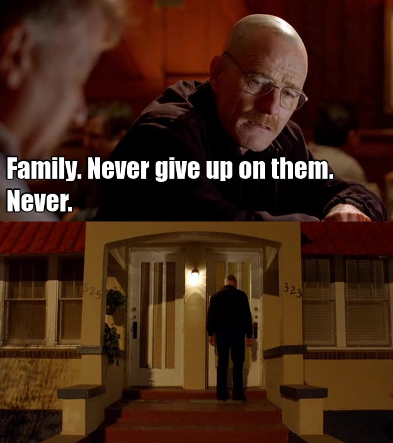 Walt really cares about Jesse and he always takes care of him. I love that. They're a great team.