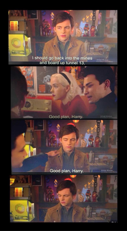 Good plan, Harry