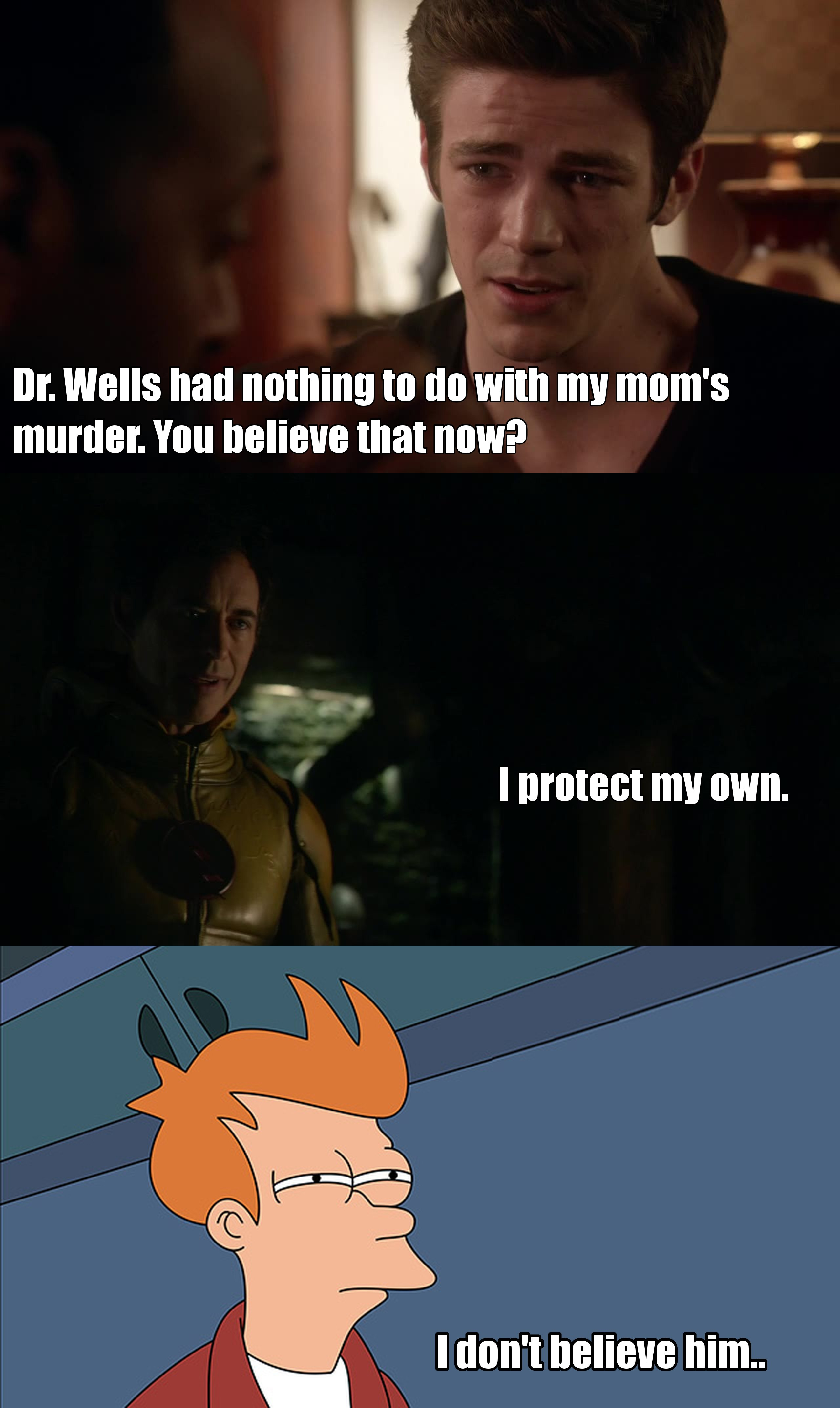 I think Barry believe too much in Dr Wells