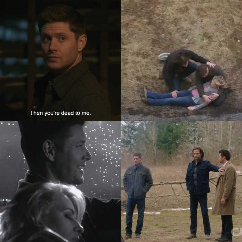 Dean is and always will be the love of my life but he needs to start thinking things through. I bet your ass he's going after Jack and he won't even think about the despicable things he, Sam & Cas have done. Deanmon, Souless Sam, Leviathan Cas (...) I could go on. They've been there. I know that it was their mom but Jack's a desperate two year old that always tried to do what's best so that we would get their approval and fucked up really bad.
