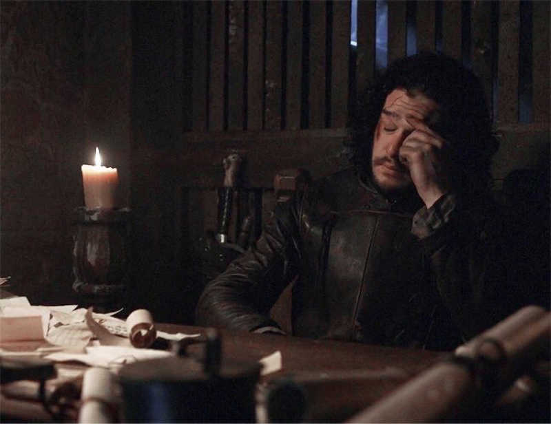 Jon Snow everytime he gets rid of one title and they give him a higher one! 😂