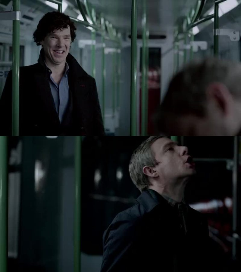 This moment was so hilarious, I just love Sherlock😍
