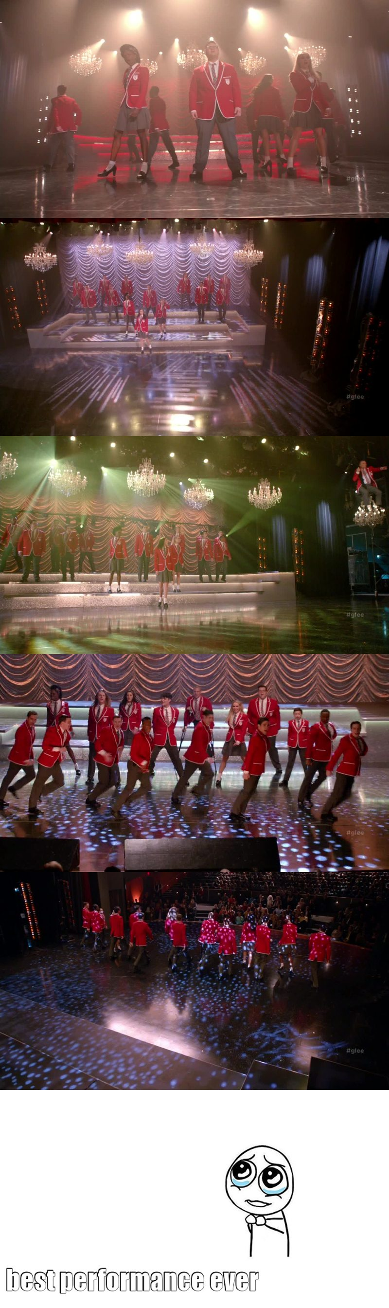 Honestly, I think it was the best song setlist and performance they did... I really adore glee, this show will stay in my heart forever ❤️