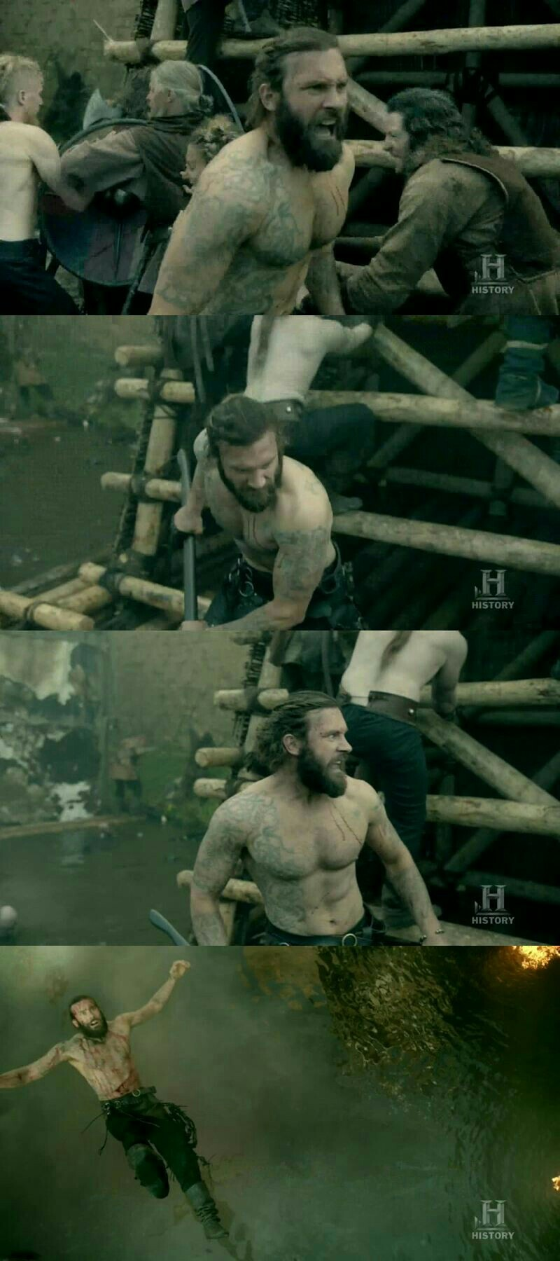 I wanna thank Rollo for fighting shirtless