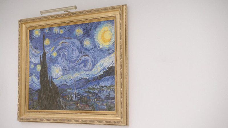 They even have a Van Gogh. 😮