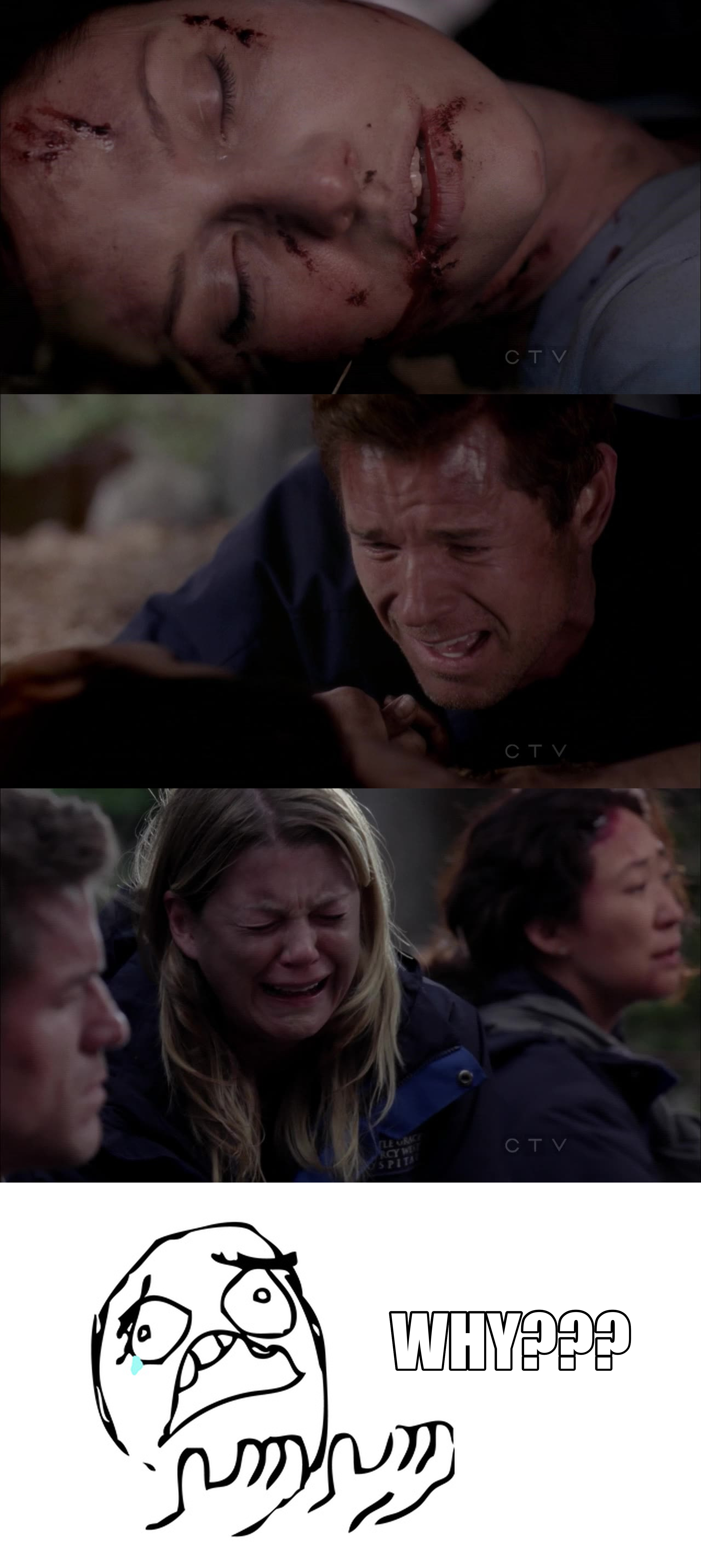 NO, I CAN'T BELIEVE LITTLE GREY IS DEAD! AND MARK WAS THERE FOR HERE ON HER LAST MINUTES! WHAT A SAD SCENE.