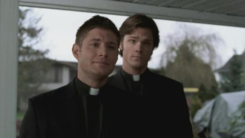 Father Dean, father Sam, for you I would go to church everyday 🙏😍