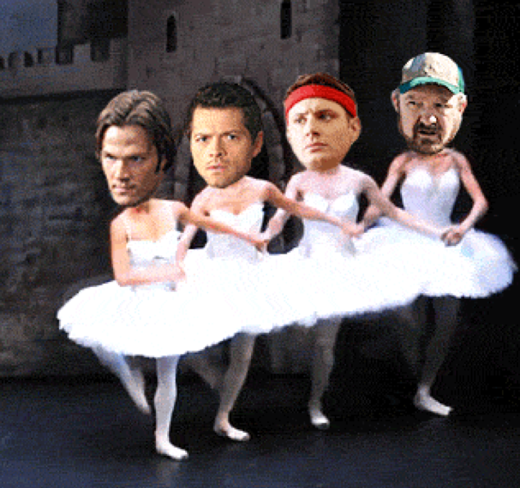 That's how i picture Dean will be dancing 😂