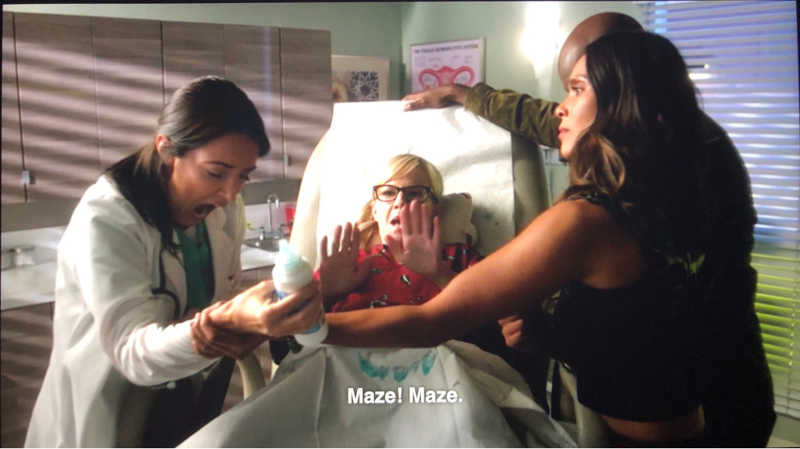 The truly supernatural support team ! Protect them at all cost!  Love how Maze is so protective❤️
