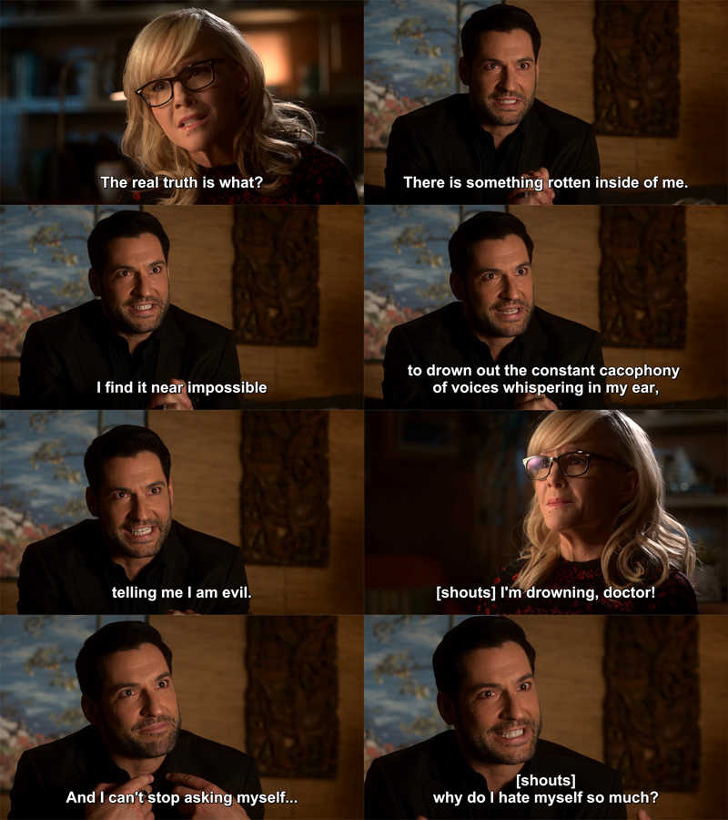 This is so sad but also a very important step for Lucifer in order to get real character development. ♥