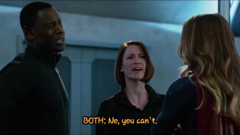 Kara: You know you coulda told me... I can keep a secret.
