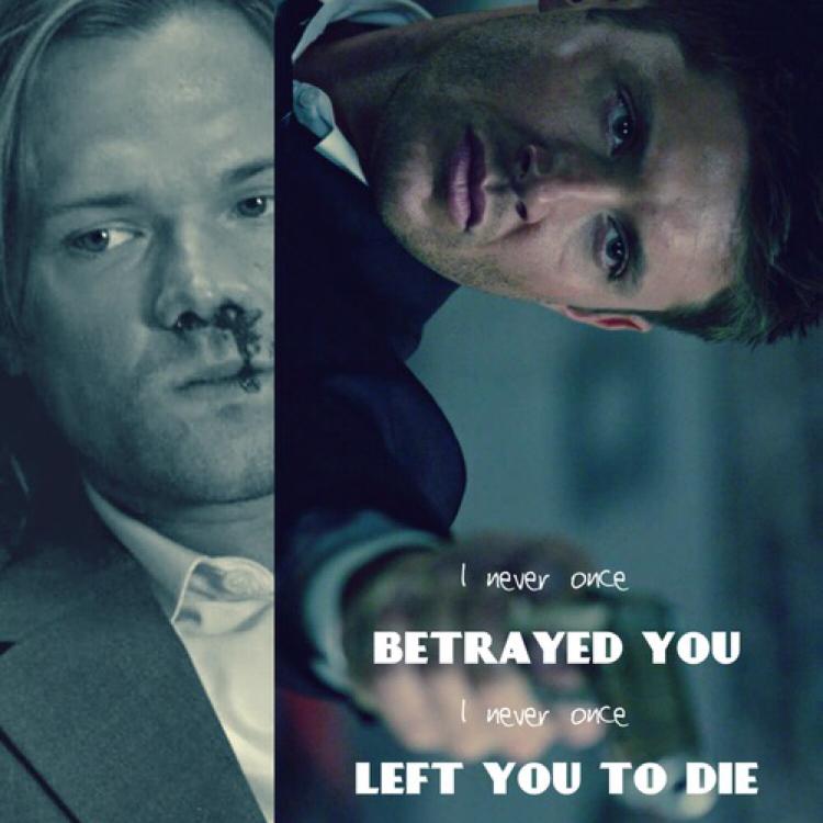 Poor Dean 💔 he's hurt.