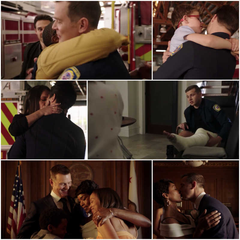 Wow what an intense emotional episode😢💔 . So glad things are looking up for all❤️. Now when the new season returns . I'm just hope that Buck will be ok to return to  work.  👨‍🚒🚒