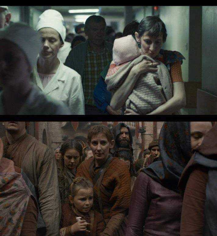 She ran with her daughter from the radiation in Chernobyl..to face the dragon fire in King's landing .. Leave them in peace HBO💔