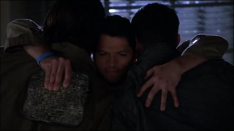 "Cass: ""I love you, guys.""  He's so cute."