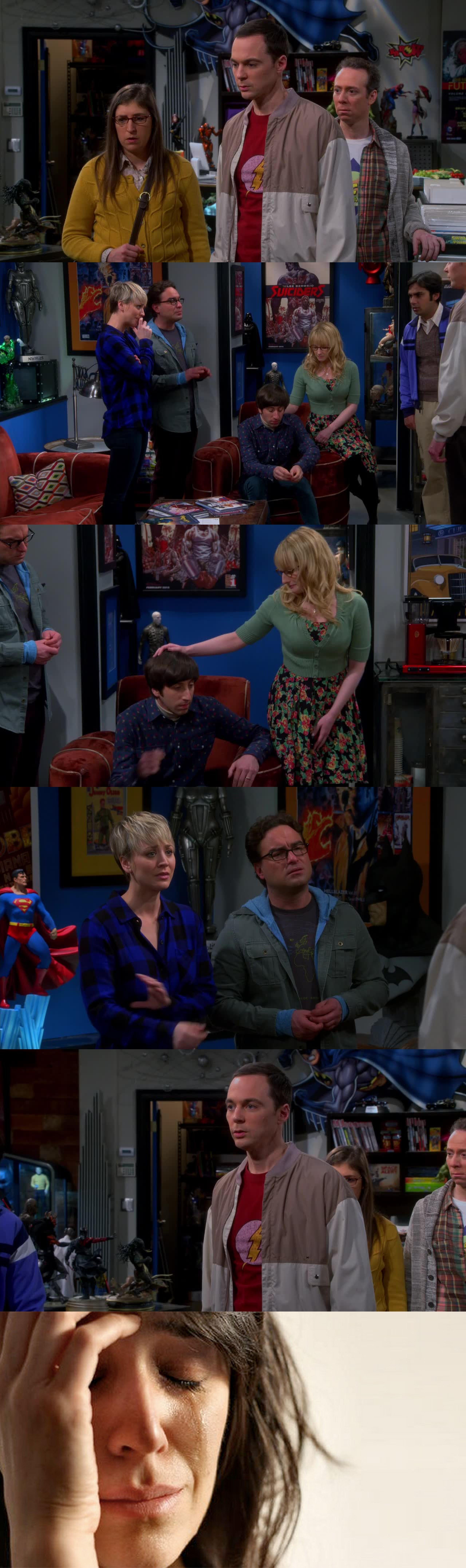 Sheldon ha detto la cosa più bella che puó dire una persona in un momento di difficoltà.  Grazie Shelly :')  RIP Mrs Wolovitz, I will miss you
