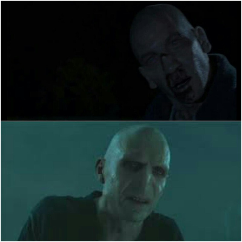 looked like Voldemort to me...
