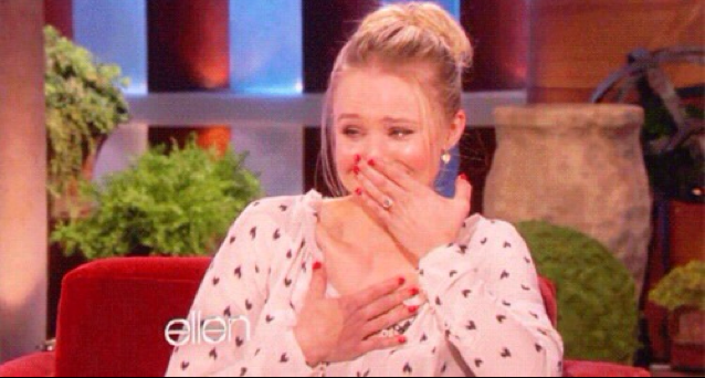 Mark's face when Lexie tells him she loves him