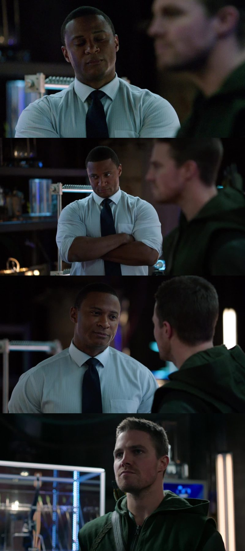 Every TV show should have a character like Diggle: the one who say for the main character things the fandom want to say for him.