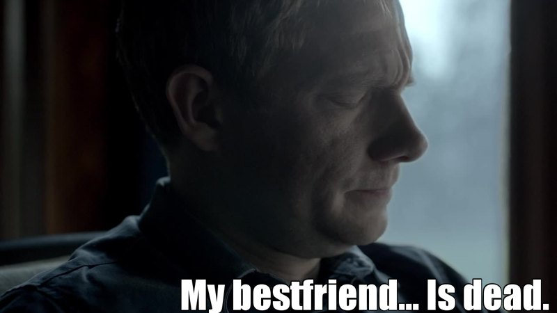 Even if I was sure Sherlock was still alive, I was about to cry in this scene :(
