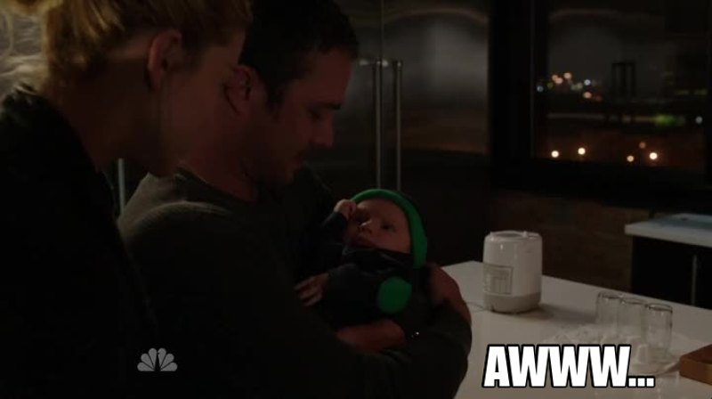 I love seeing Kelly hold the baby. He'll make such a great Dad someday...