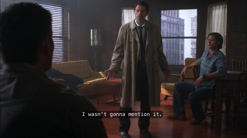"After Cas mentions the ""profound bond"""