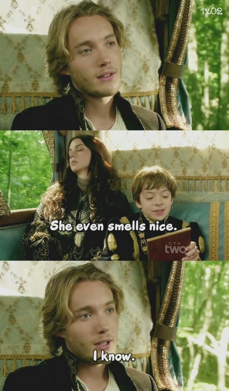 """she even smells nice."" 😄"