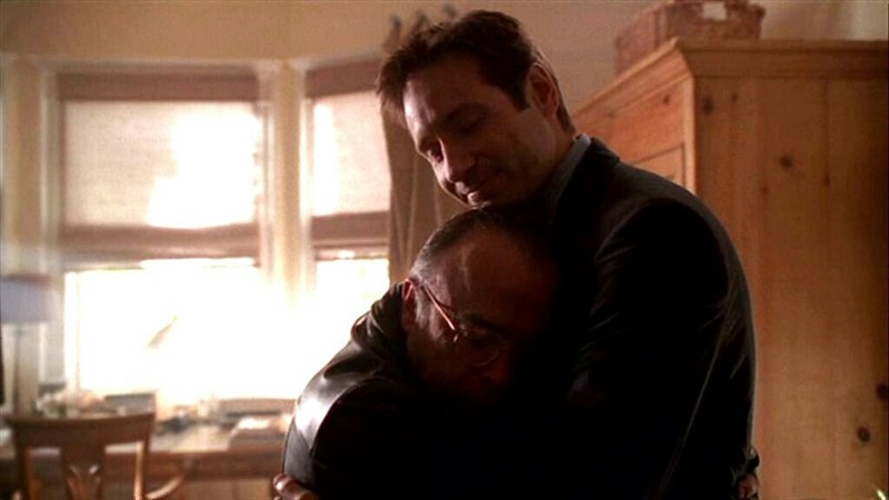 """Mulder: """"Melvin. I'd be a whole lot happier to see you if you'd just take your hands off my ass."""" Frohike: """"Sorry."""""""