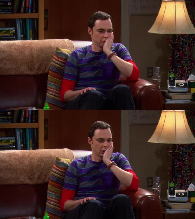 This face!! Poor Sheldon 😂😂