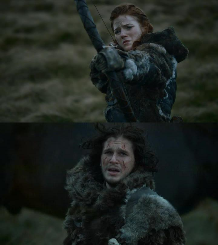 So heartbreaking the separation of Ygritte and Jon :'(