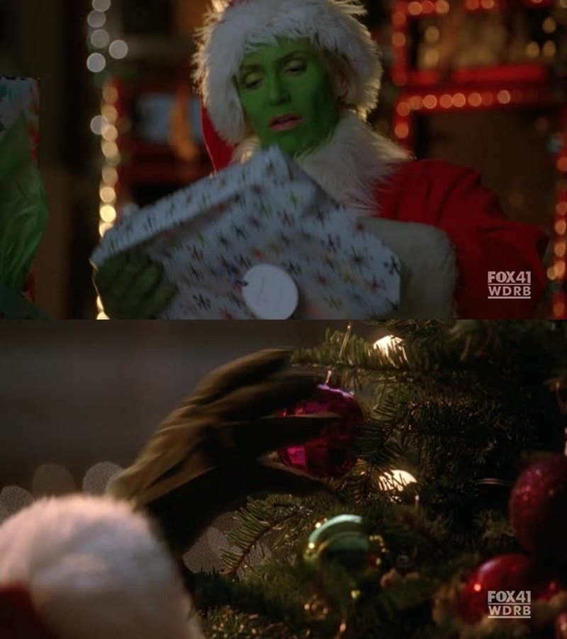 Sue as the grinch was the Best 😂