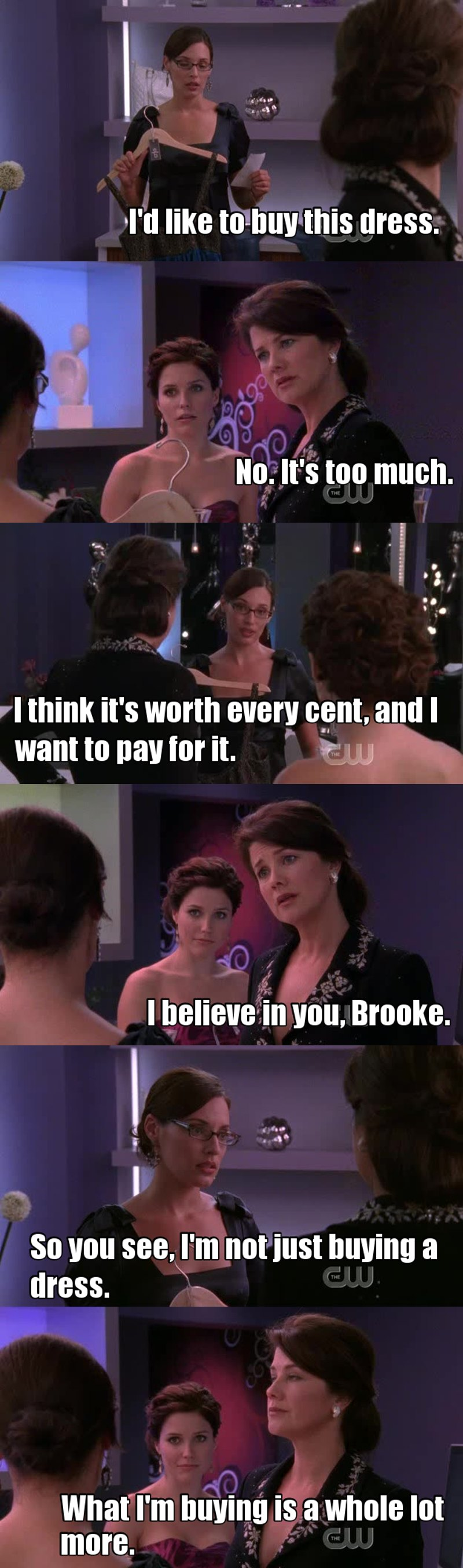 Millicent is so cute, she really believes is Brooke! Screw you Victoria!