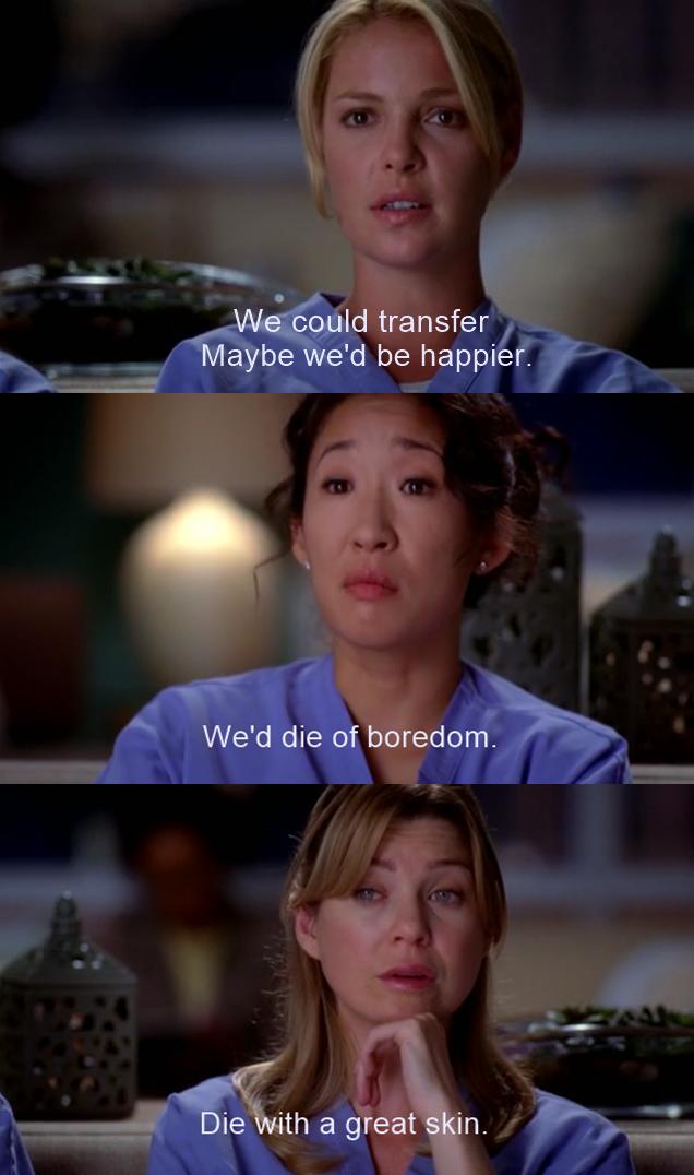 The dermatology scenes was so funny haha