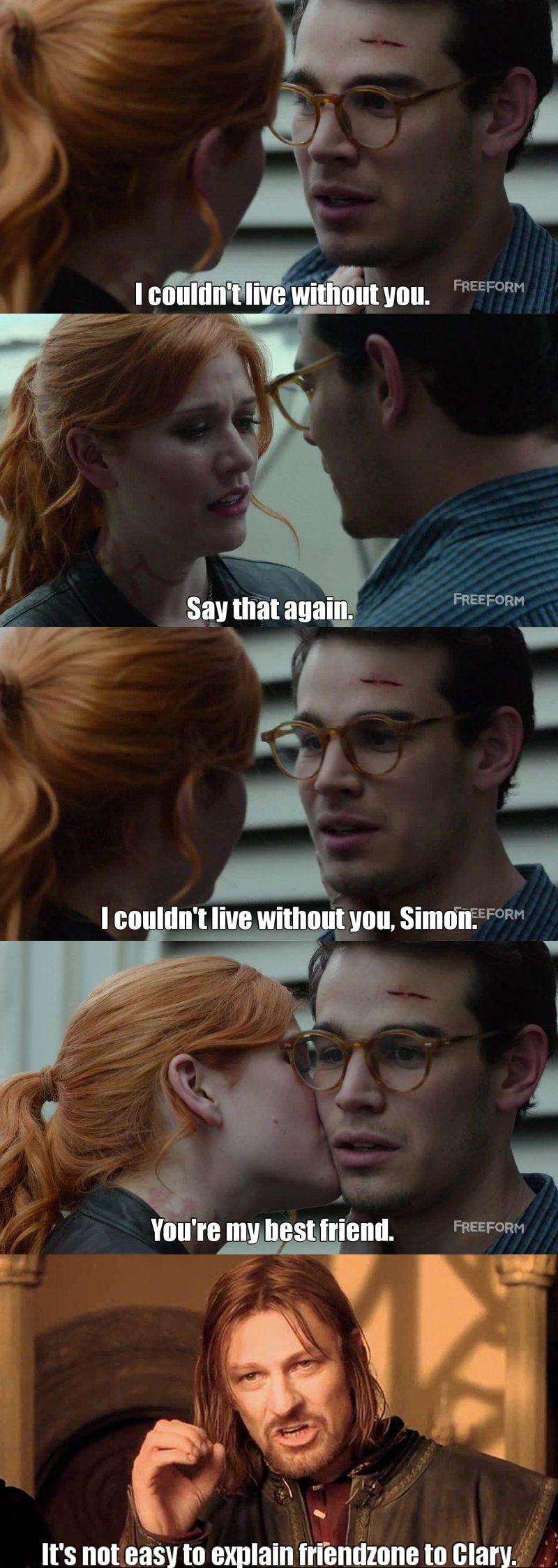 Poor Simon. 😂😂😂 my little nerd!