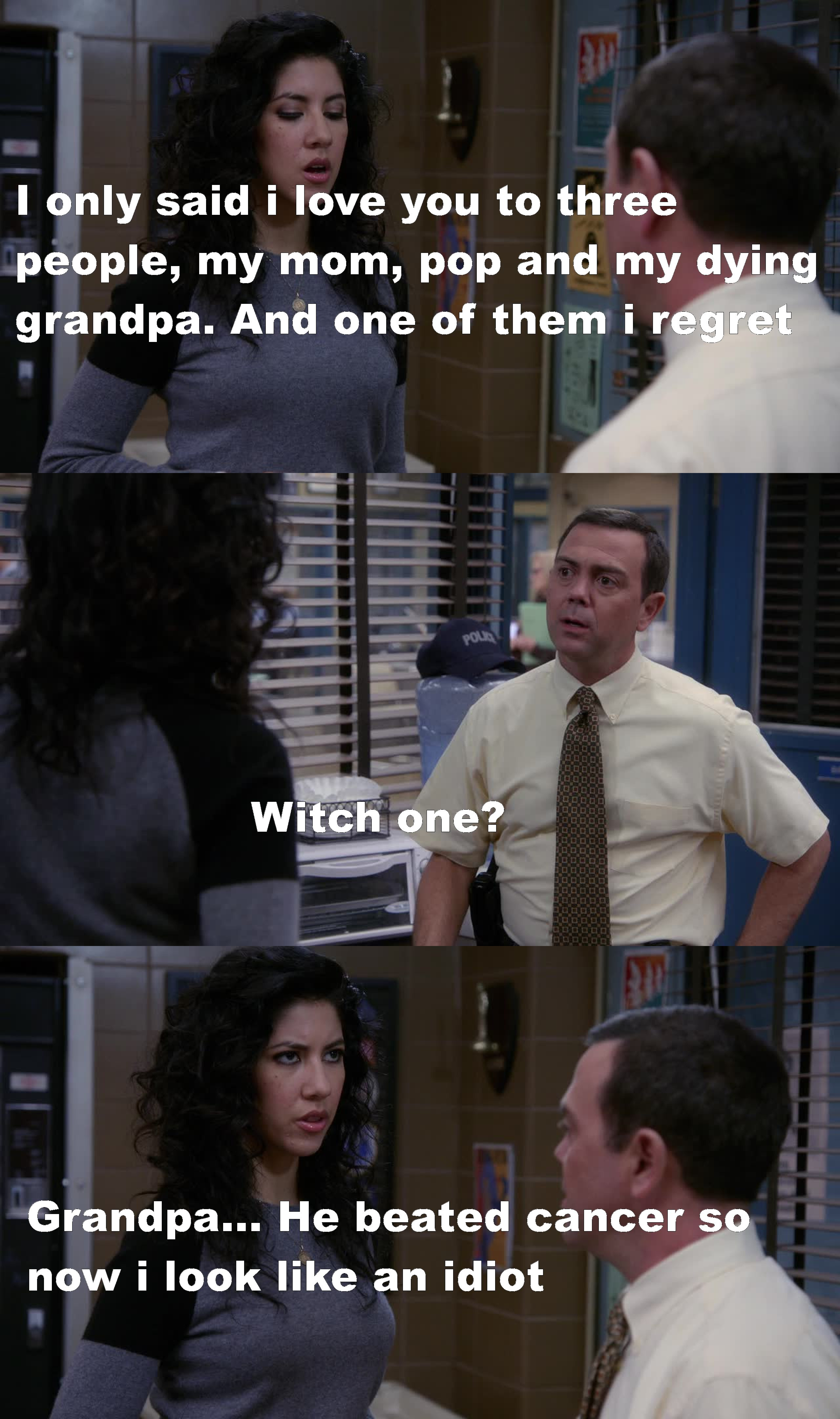 She said it !! Four times !!