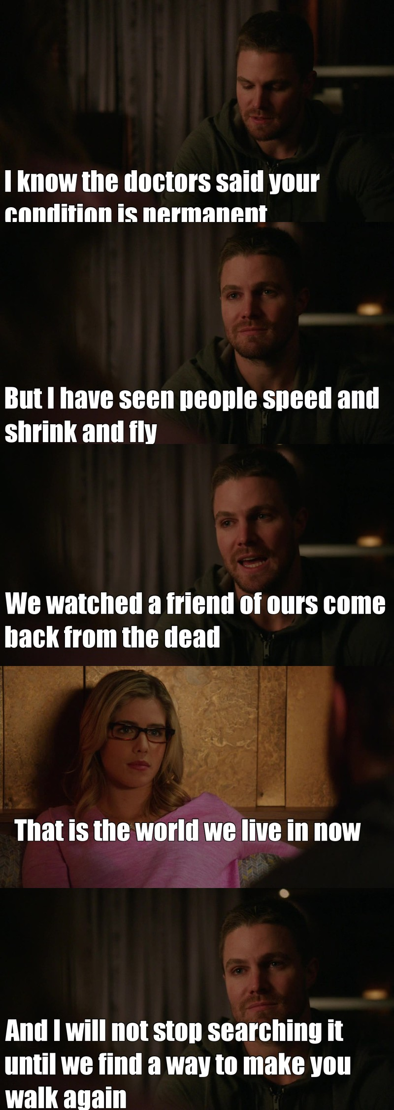 One of my favourite Olicity' moments 😍😍😍😍