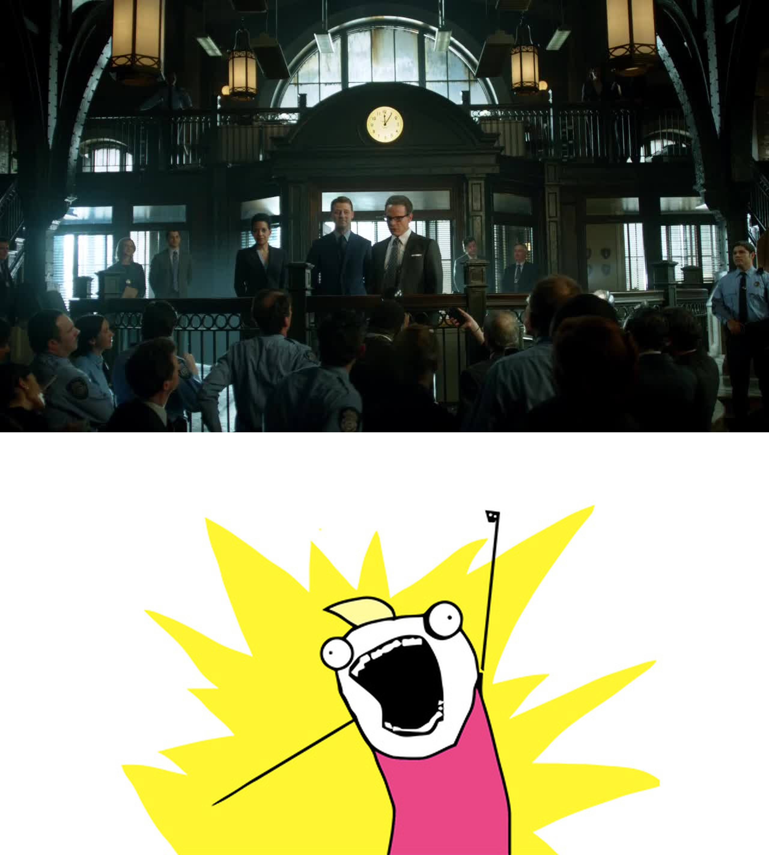 Gordon's first big step towards cleaning up GCPD!!!
