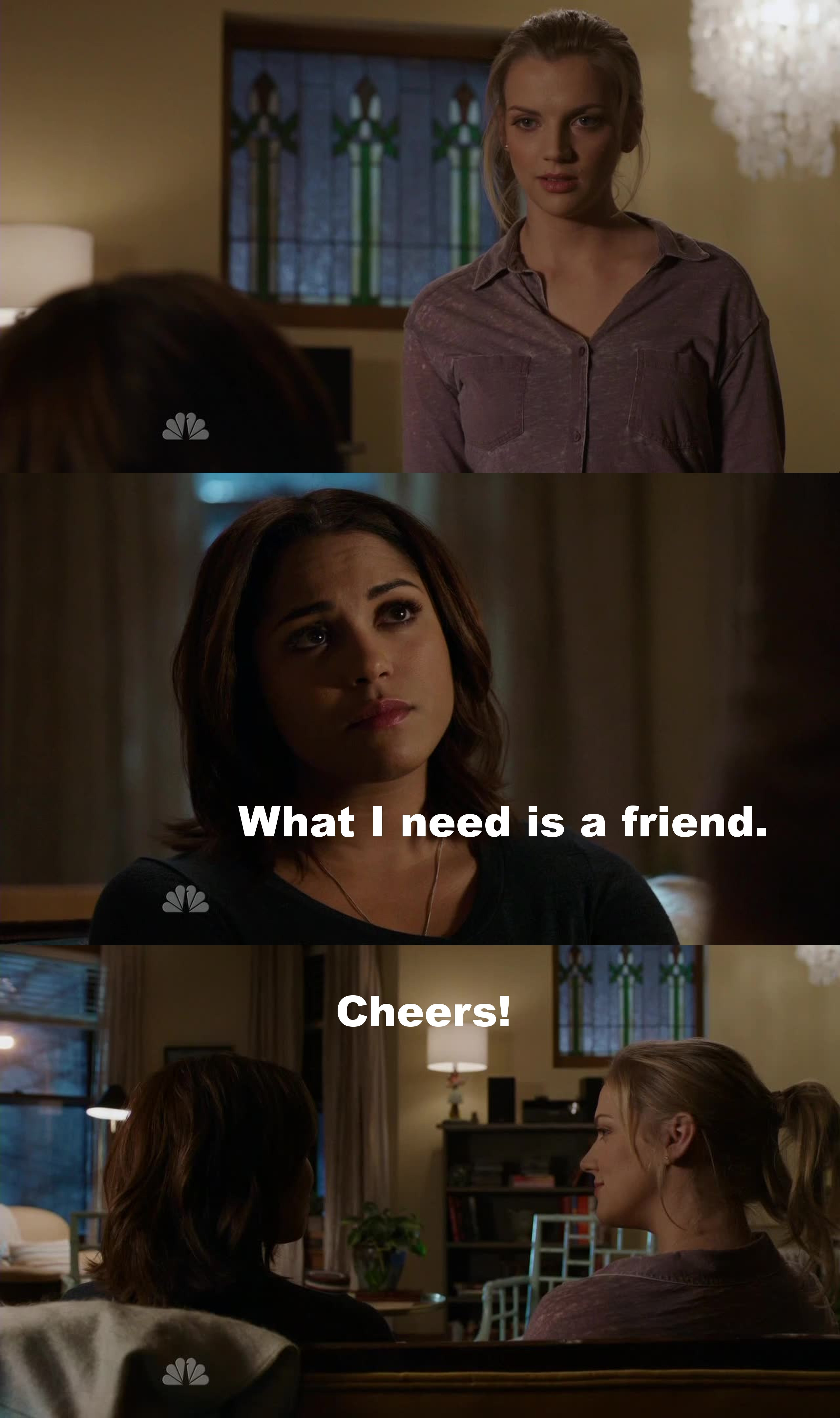 Let's go for a Shay 2.0 friendship... JOKE! Their friendship will never be as good as the one between Shay and Dawson... But she needs it!