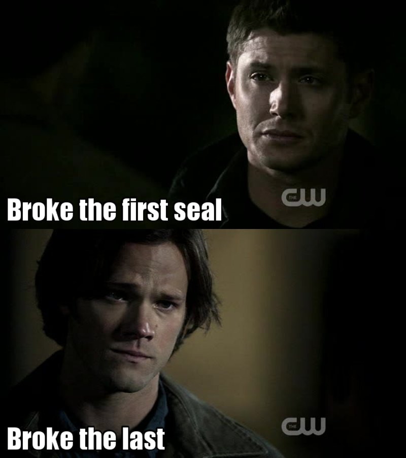 "I hated the fact Sam trusted Ruby more than Dean, really ! And even if I'm quite disappointed, Sam and Dean both had something to do with the apocalypse, and Sam's act, well... If he hadn't killed Lilith, I guess Lilith would have killed herself. I mean, it wasn't written anywhere that Sam was the one supposed to kill her, right ? So Sam may had the final ""move"", I might say, that lead to the apocalypse, he might have made really really really REALLY poor choices, but, just as Dean didn't break the first seal on purpose, neither did Sam....  Well. That was a long comment, I'm not even sure it means anything but there. That's my opinion on this topic."