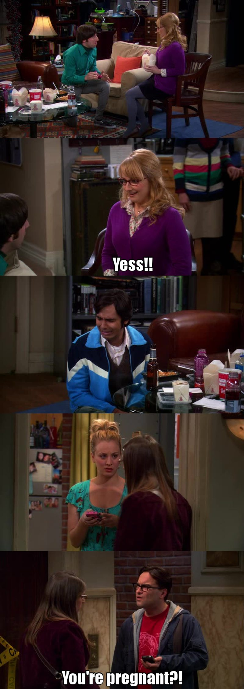 Gossips! I love Amy and Sheldon, they are making social experiments ahah