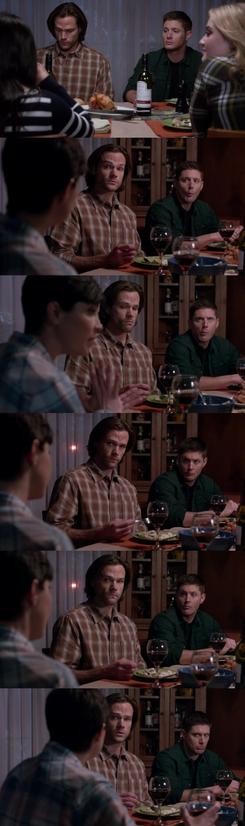 Dean face is priceless