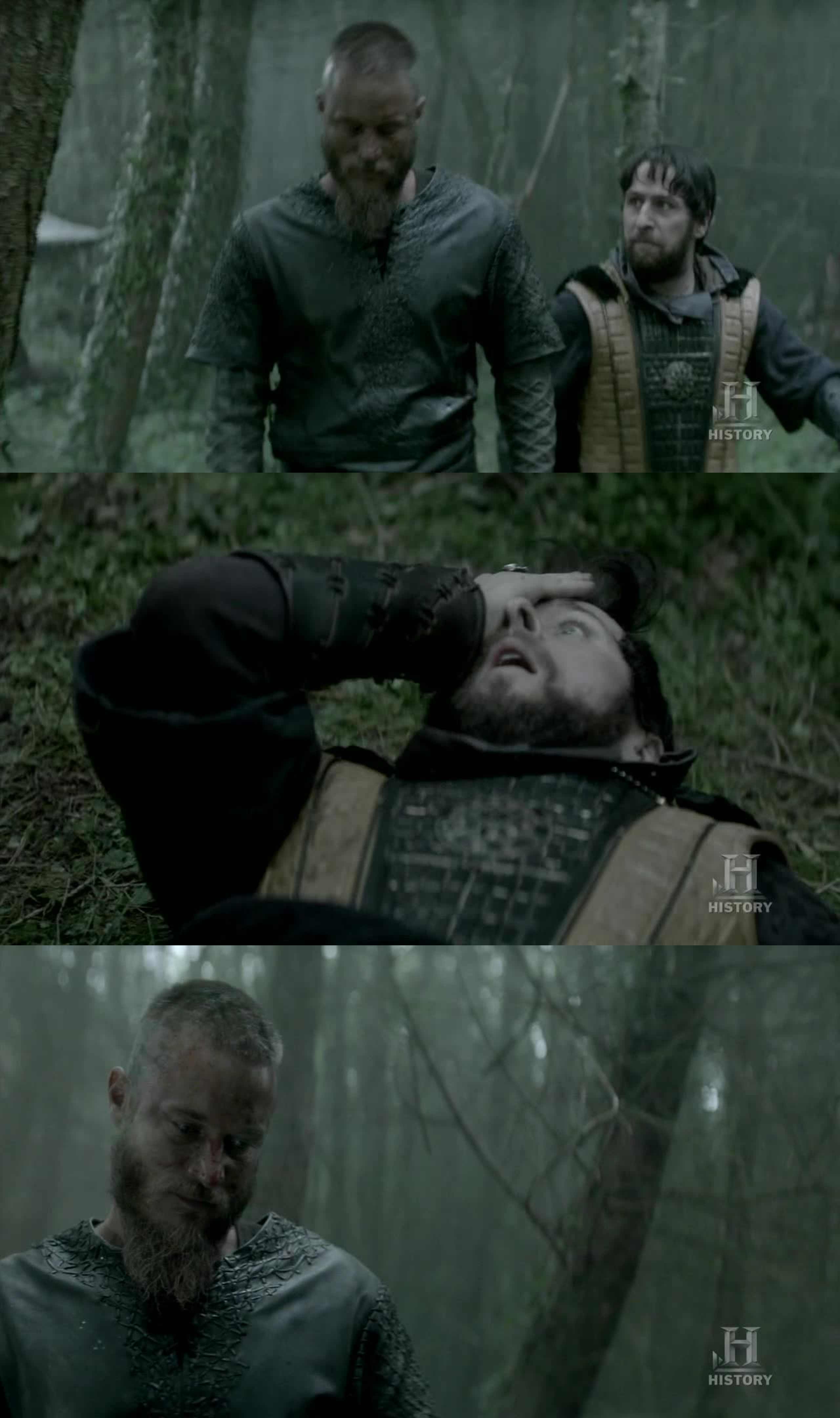 Lord Dumbass:  I beg your forgiveness, King Ragnar!  --- Headbutt! ---  Ragnar:  I forgive you.  Haha, too funny.