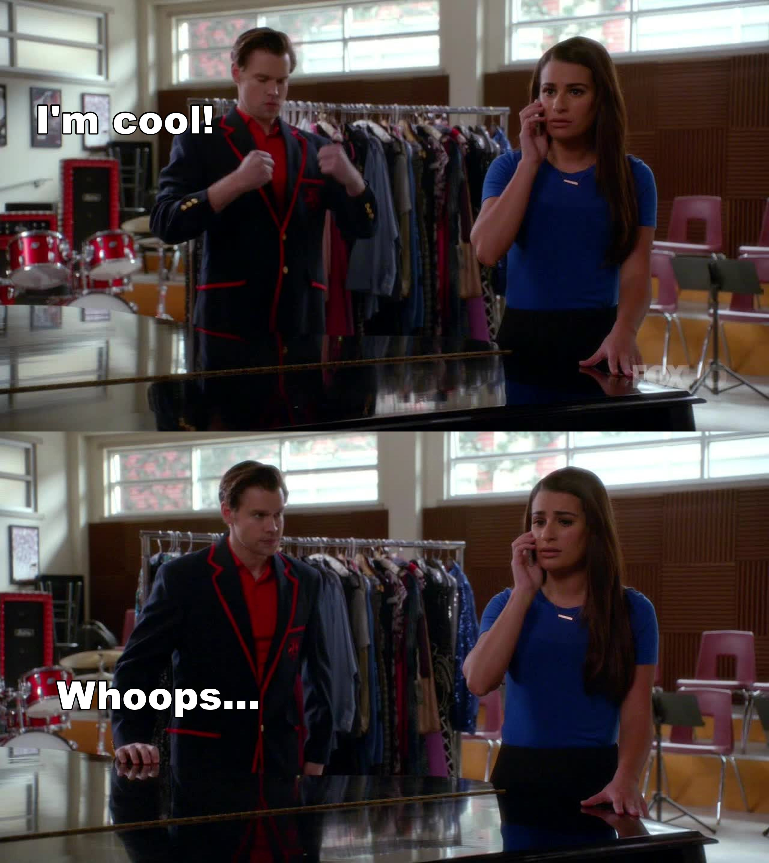 Sam trying moves during Rachel's call made me smile!