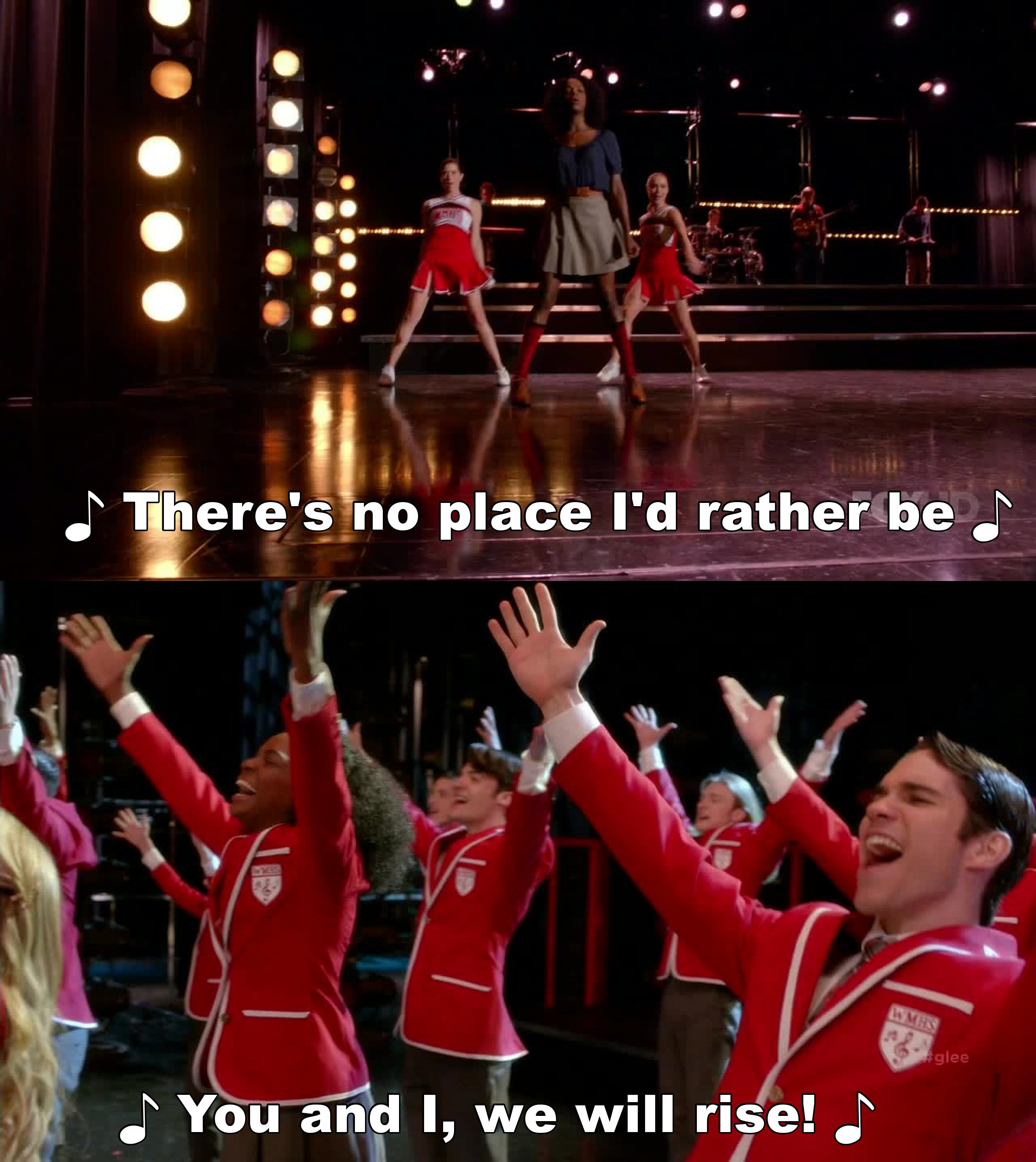 First and last song best part of the episode.